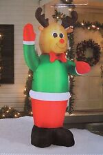 NEW AIRBLOWN INFLATABLE 8FT 8 FT LED LIGHTED REINDEER DEER CHRISTMAS YARD DECOR