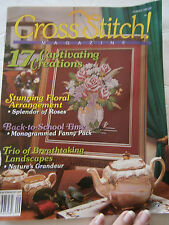 September 1992 Cross Stitch! Back Issue Pattern Magazine #12 Floral Fanny Pack