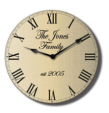 Personalised Family Wall Clock - Classical Design - Your Own Text- 50cm x 50cm