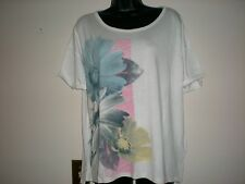 WOMEN OLD NAVY FLOWER ,DRAPERY SHORT SLEEVE  T-SHIRT SIZE M NWT