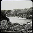 Glass Magic Lantern Slide SAINTS BAY GUERNSEY C1900 PHOTO LOBSTER POTS