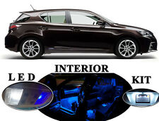 LED for Lexus CT-200H Blue LED Interior package +Vanity Lights (8 pcs)