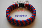 Royal Engineers Corps Hand Made Paracord Wristband Un-Official Help For Hero's