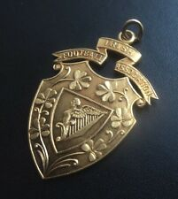 Irish Football Association 9ct Yellow Gold Fob Medal - h/m 1949 not engraved
