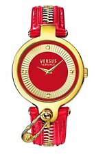 Versus by Versace Women's SOB120015 KEY BISCAYNE Gold IP Red Leather Watch