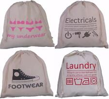 4 pack sac de voyage set avec cordon de serrage, sous-vêtements, lingerie, buanderie lavage vacances valise