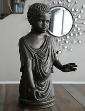 Ancient African Youth Boy Hellenistic Greek statue sculpture museum reproduction