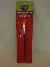 FLAT ART BRUSH NO 10 HOG BRISTLE BY CREATIVE COLOUR