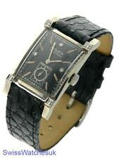 Gruen Veri-thin 14 K blanco oro señoras Diamante Vintage Watch