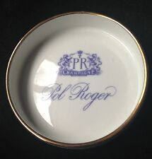 POL ROGER CHAMPAGNE ASHTRAY COASTER VINTAGE  NEW CONDITION  FRANCE