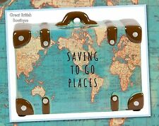 PERFECT FOR THE WORLD TRAVELLER! - VINTAGE MAP MONEY SAVING POT/PIGGY BANK