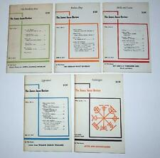 The James Joyce Review, 5 issues, Vol 1 & 2, 1957-8, Ulysses, Finngegan's Wake++