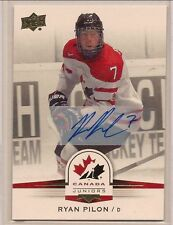 RYAN PILON 2014 UPPER DECK TEAM CANADA JUNIORS AUTO