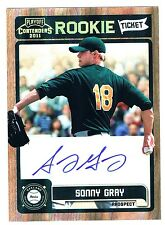 SONNY GRAY 2011 Panini Ticket Autograph Auto Baseball Rookie Signed Ball Card As