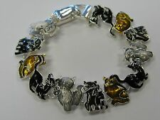 Kitty Cat Kitten Charm Bracelet With Magnetic Clasp # 3438 NEW Birthday Gift