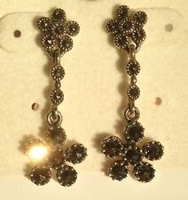 Marcasite .925 Sterling Silver Womens Earring Jewelry ear ring! FAST SHIPPING!