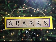 LA Sparks WNBA Los Angeles Scrabble Tiles Christmas Ornament Handmade Holiday