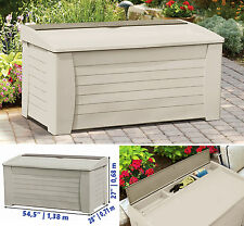 Deck Storage Box Outdoor Patio Garage Shed Backyard Garden Tool Box Container