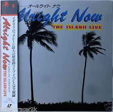 ALLRIGHT NOW Laserdisc The Island Live Concert JAPAN LD Free, Cope, Waits Sly U2