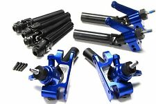 SLASH ULTIMATE BLUE ALUMINUM C-HUBS AXLES F/R Shafts Platinum 4x4 Traxxas 6804r
