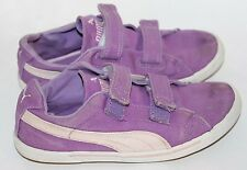 Classic Puma Girl Magic Snap No Lace Shoes Violet Sz 2  Junior