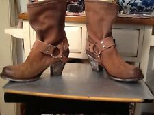 Matisse Women's Sz 7B Brown Suede leather distressed look Buckle ankle Boot