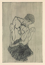 Egon Schiele Print Reproduction: Sorrow - Fine Art Print