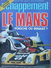 """ECHAPPEMENT N°104 (juin 1977) 24 H du Mans - Essais : Alfasud """"Trophée"""", Rancho"""