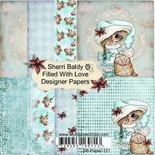 """NEW My-Besties SCRAPBOOK PAPER PACK SET 6 X 6""""  free us ship FILLED WITH LOVE"""
