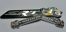 3Pcs SRT Super Bee+Scat Pack Emblems Badge Sticker  Dodge Challenger Ram Charger