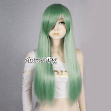Straight Women Girl Green 70CM Long Anime Cosplay Heat Resistant Full Wig