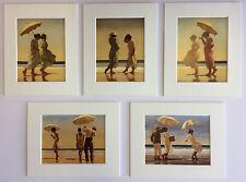 """""""la selezione da Spiaggia II"""" da Jack Vettriano Set di 5 stampe d'arte montato 10"""" x 8"""""""