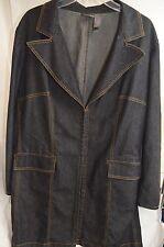Bisou Bisou By Michele Bohbot Long Denim Blazer/Jacket Size 1X