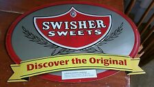 SWISHER SWEETS METAL CIGAR SIGN GREAT SHAPE NOS