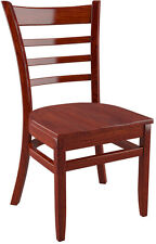 US Made Ladder Back Restaurat Chair in Mahogany Finish with Solid Wood Seat