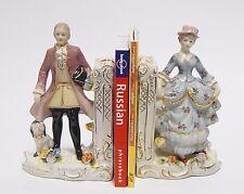Porzellan Buchstützen Paar Porzellanfigur Frau Mann