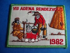 BOY SCOUTS CANADA VINTAGE PATCH ADENA VIII RENDEZVOUS 1982