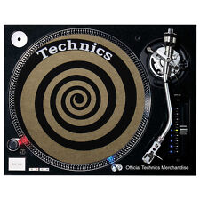 Slipmats Technics Spiral Gold / Black (1 Piece / 1 Piece) NIP
