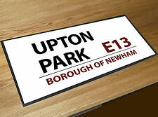 Upton Park West Ham Football Street sign bar runner Pubs & Cocktail Bars