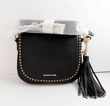 NWT Michael Kors Brooklyn Medium Saddle Bag ~ Black