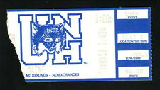 1994 New Hampshire Wildcats Men's Basketball Ticket vs Maine Black Bears