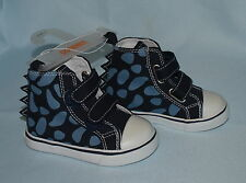 NEW GYMBOREE DINOSAUR ACADEMY HIGH TOP TENNIS SHOES NAVY BLUE SNEAKERS SIZE 5