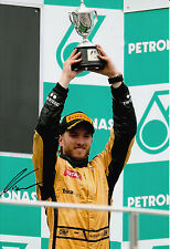 Nick Heidfeld Hand Signed Lotus Renault GP F1 12x8 Photo Podium.
