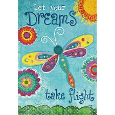 "DREAMS TAKE FLIGHT SM GARDEN FLAG 12.5"" X 18"" SEASONAL 27-1883-167 SPRING"