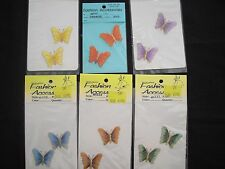 6 pairs of Iron/Sew-on Butterfly Appliques by Fashion Accessories
