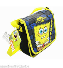 Spongebob Sponge Bob Spongular Insulated Messenger Lunch Bag+Water Bottle-New!