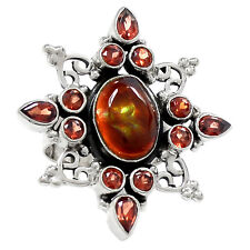 Mexican Fire Agate 925 Sterling Silver Ring Jewelry S. 5.5 RR8722