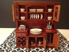 Dollhouse Miniature Furniture Mahogany Wood Wine Shelf Cabinet 1:12 (no food)