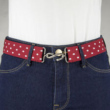 Red and White Polka Dots Elastic Belt Made in UK