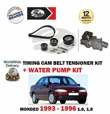 FOR FORD MONDEO 1.6 1.8 1993-1996 TIMING CAM BELT TENSIONER KIT + WATER PUMP SET